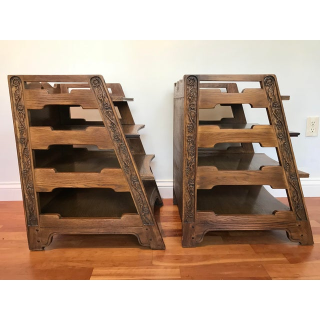 Romweber Viking Oak End Table Nightstands Magazine Shelf 5712 5-950 Arts and Crafts - a Pair For Sale - Image 6 of 13