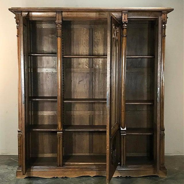 19th Century Gothic Walnut Triple Bookcase For Sale In Dallas - Image 6 of 12