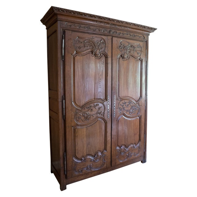 French Oak Armoire from Normandy - Image 1 of 10