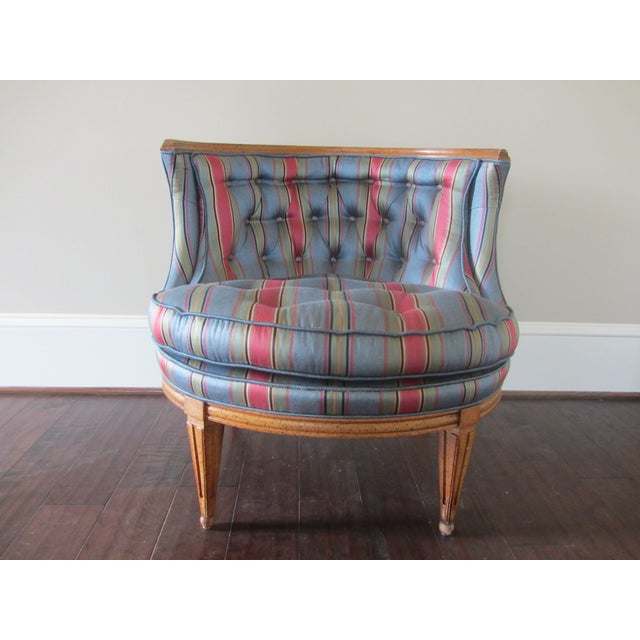 Mid-Century Modern Blue Tub Chair - Image 2 of 6