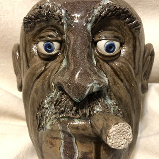 1960s Vintage Ceramic Face Jug Preview