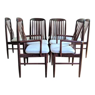 Benny Linden Danish Modern Rosewood Dining Chairs - Set of 8 For Sale