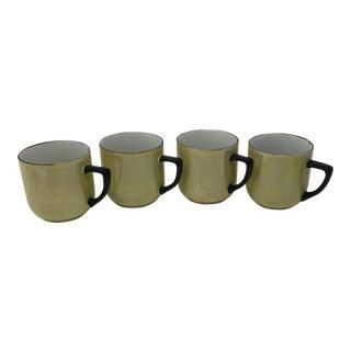 1920s German Lusterware Porcelain Demitasse Cups - Set of 4 For Sale