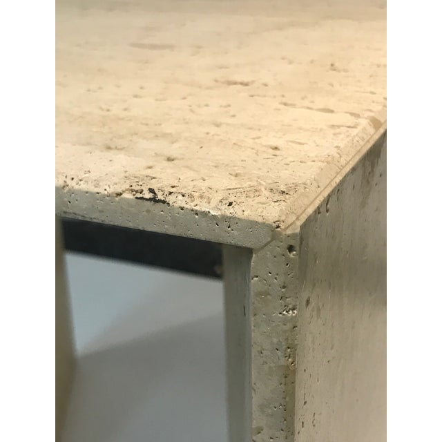 Fabulous Italian Travertine Accent Table or Side Table For Sale - Image 9 of 10