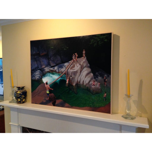 Figurative Bathers at a Vermont Swimming Hole. Painting by Stephen Remick For Sale - Image 3 of 8