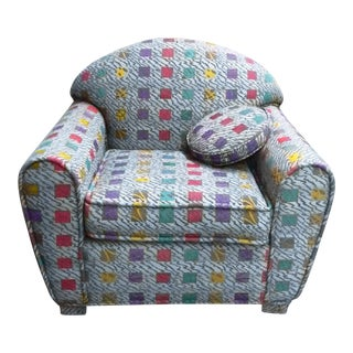Last Call Postmodern Geometric Color-Coded Armchair
