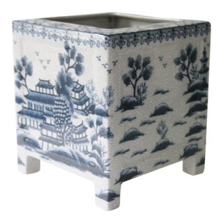 Blue & White Porcelain Pagoda Planter