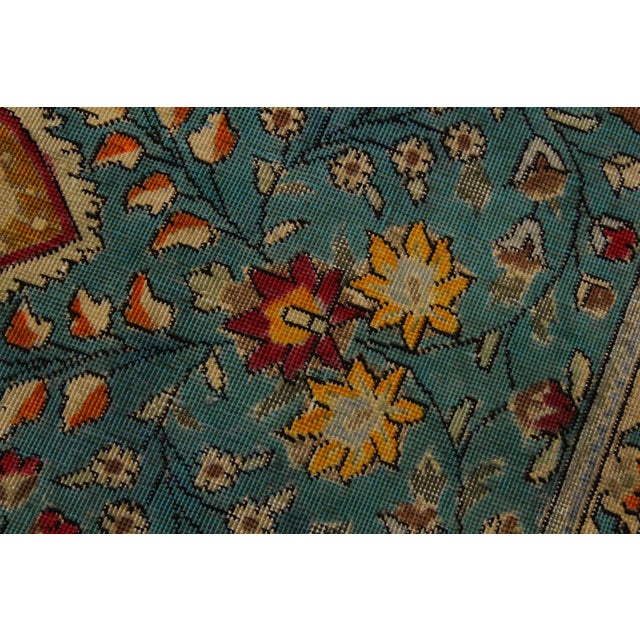 Hand Painted Solis Wool Rug - 9′8″ × 12′4″ For Sale In New York - Image 6 of 8