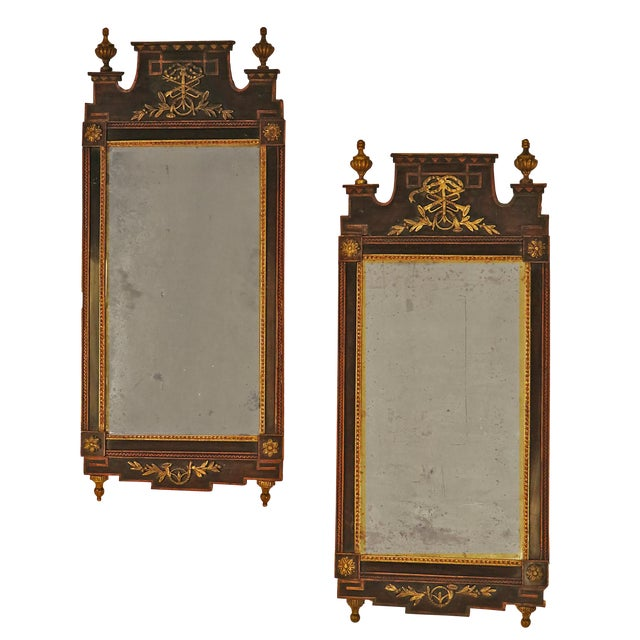 18th Century Tony Hail Danish Mirrors - a Pair For Sale