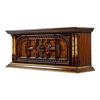 Hollywood Regency Credenza Dresser Faux Ebony Greek Revival For Sale