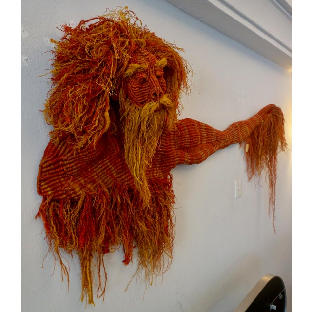 Mid-Century Modern 1980s Mid-Century Modern Handwoven Macrame Wall Hanging by Judee Du Bourdieu For Sale - Image 3 of 7