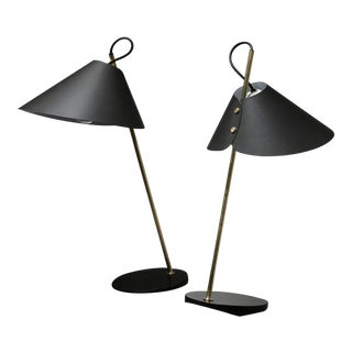 "Pair of ""Base Ghisa"" Table Lamps by Caccia Dominioni for Azucena For Sale"