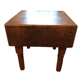 Vintage Mid-Century Butcher Block Table For Sale