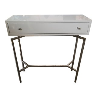 Mitchell Gold + Bob Williams Small White Lacquer Ming Console For Sale