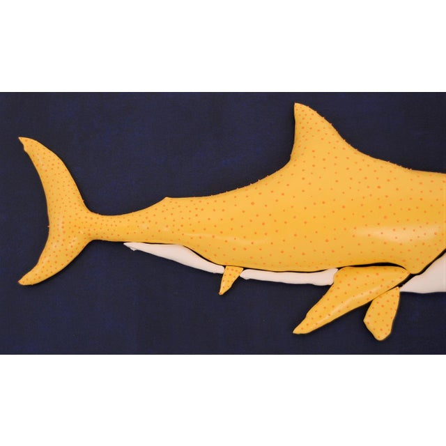 Enrico Cecotto Lemon Shark Contemporary Sculptural Painting For Sale - Image 4 of 7