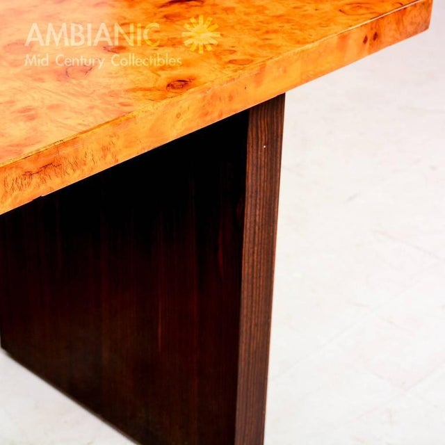 Andrew Szoeke Andrew Szoeke Burl & Macassar Coffee Table For Sale - Image 4 of 8
