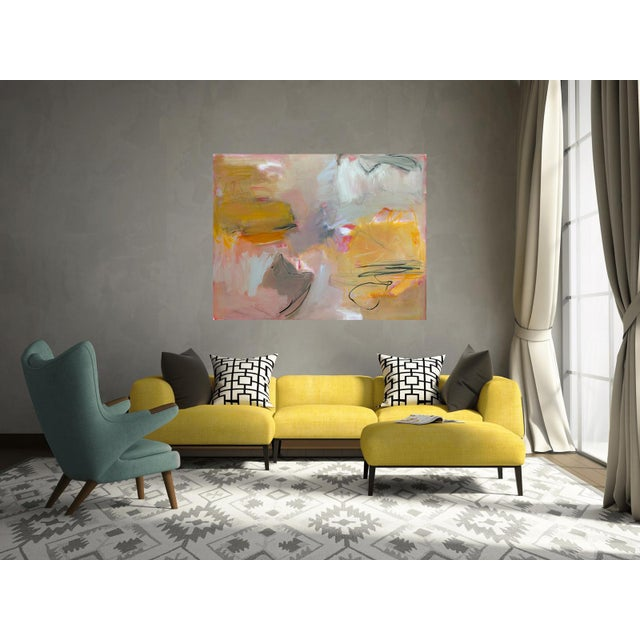 """Canvas """"Sirocco"""" by Trixie Pitts XL Abstract Expressionist Oil Painting For Sale - Image 7 of 13"""