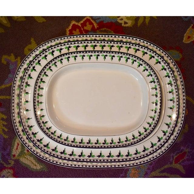 "Josiah Spode 19"" Creamware Hand Painted Fern & Dot Platter, 1785 For Sale - Image 10 of 11"