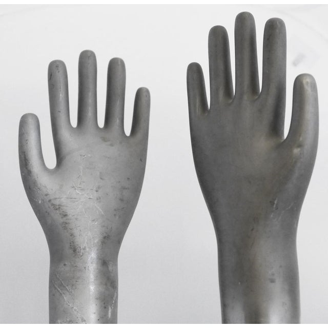 Industrial Vintage Industrial Metal Glove Mold - Pair For Sale - Image 3 of 5