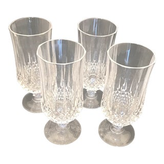 1980s Vintage Waterford Crystal Stemmed Tea Glasses - Set of 4 For Sale