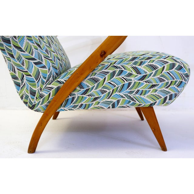 Pair of Guglielmo Ulrich Armchairs, Italy 1950 - New Upholstery For Sale - Image 6 of 9
