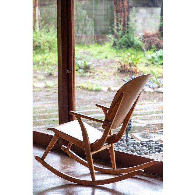1940s Vintage Ilmari Tapiovaara Rocking Chair For Sale - Image 11 of 13