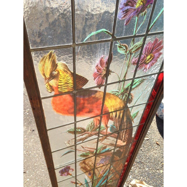 Late 19th Century French Painted and Fired Stained Glass Windows - a Pair For Sale - Image 10 of 13