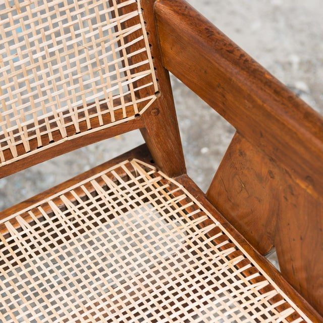 White Office Armchair by Pierre Jeanneret, India, 1950s For Sale - Image 8 of 9