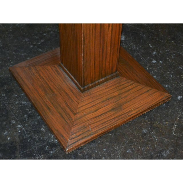 1940s Midcentury Tiger Oak Stand For Sale - Image 5 of 7