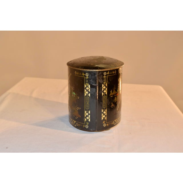 Victorian Late 19th C Chinoiserie Tea Tin For Sale - Image 3 of 8