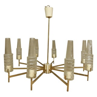 Mid-Century Modern 10-Lite Chandelier For Sale