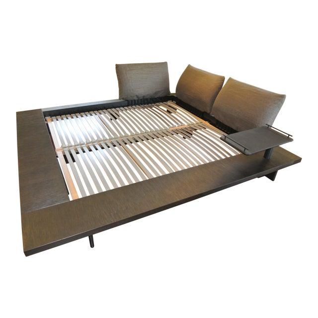 Contemporary Peter Maly For Ligne Roset King Bedframe Side Table - Maly-platform-bed-by-ligne-roset