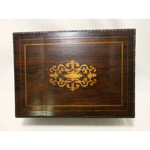 Late 19th Century Late 19th Century Antique Rosewood Sewing Box For Sale - Image 5 of 10