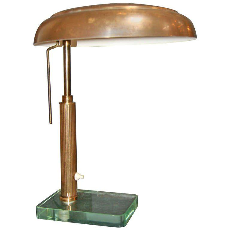 Italian Brass 1950u0027s Table Lamp   Image 10 Of 10