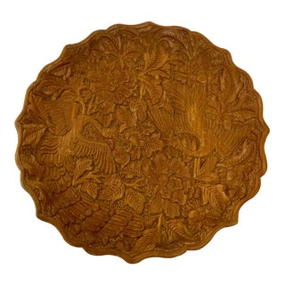 Hand Carved Camphor Wood Plate