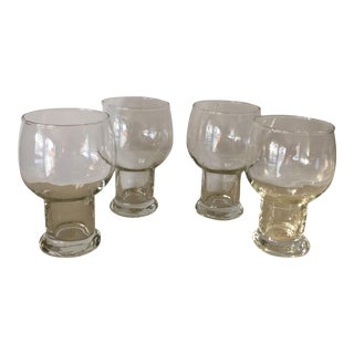 Vintage 12 Ounce Hollow Stem Lager Glasses - Set of 4 For Sale