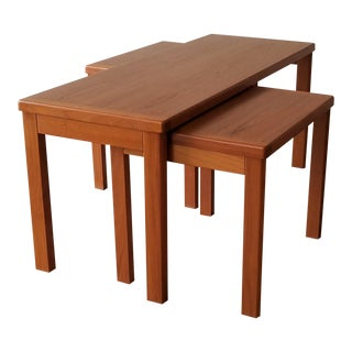 Vejle Stole & Møbelfabrik Teak Coffee Table With Nesting Side Tables - 3 Pieces For Sale