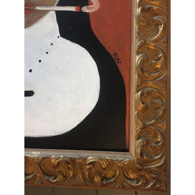 """Contemporary Rose Walton """"Smoking Nun"""" Original Painting For Sale - Image 3 of 5"""
