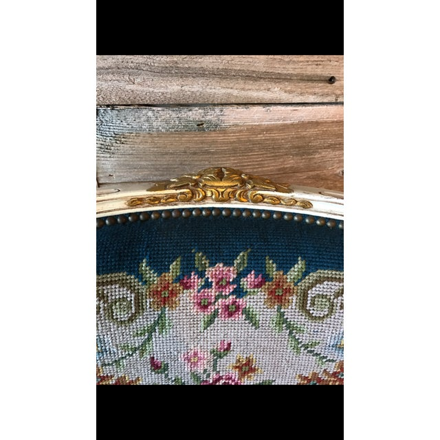 French Needle Point Arm Chair (2 Available) - Image 6 of 6