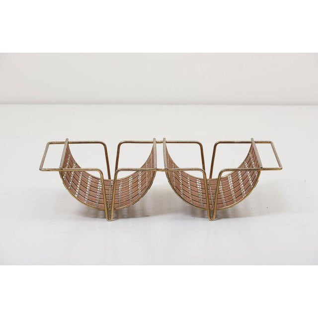 Rare Interlace Collection Set by Tony Paul for Woodlin-Hall in Brass and Walnut For Sale - Image 9 of 13