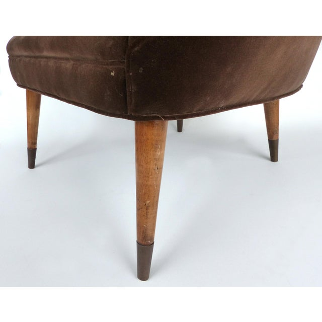 Mid-Century Gio Ponti Style Club Chairs-A Pair For Sale - Image 10 of 11