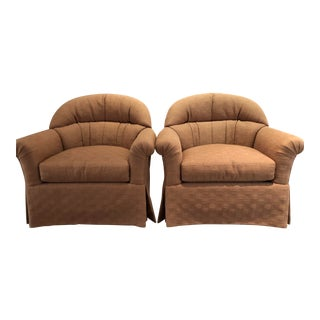 Sherrill Furniture Co. Upholstered Club Chairs - A Pair