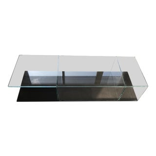 Modern Cassina 269 Mex Glass Black Coffee Table For Sale