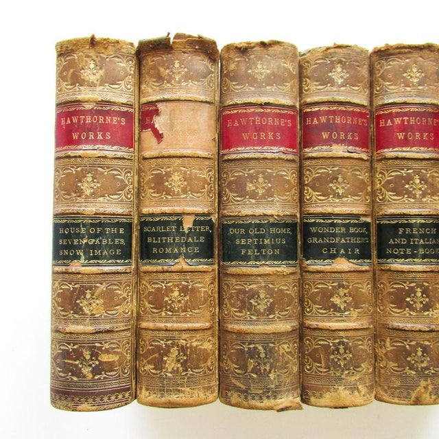 1880 the Works of Nathaniel Hawthorne Published Boston - 7 Volumes For Sale In New York - Image 6 of 9