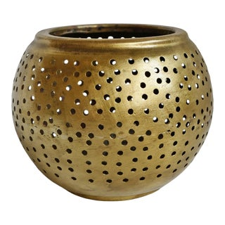 Brass Ball Dot Candle Holder For Sale