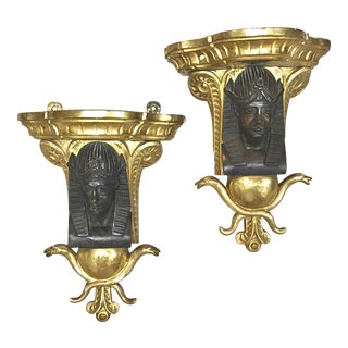 French Empire Figural Wall Brackets - 19th Century For Sale
