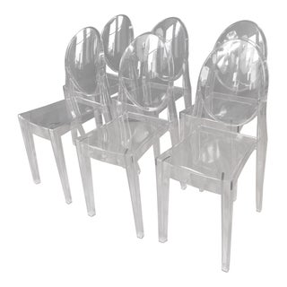 "Philippe Stark for Kartell ""Victoria Ghost"" Chairs - Set of 6"