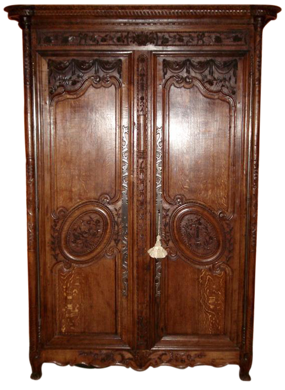 Charmant One Of A Kind Beautiful Normandy Armoire