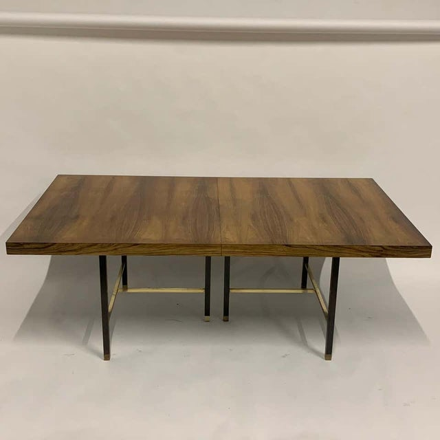 Mid 20th Century Harvey Probber Sculptural Floating Dining Table in Rosewood, Brass and Mahogany For Sale - Image 5 of 13