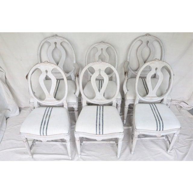 Gustavian (Swedish) Mid 19th Century Swedish Gustavian Dining Chairs, Set of 6 For Sale - Image 3 of 13